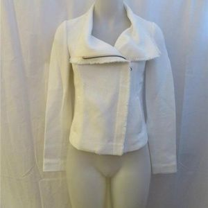 VINCE WHITE FULL ZIP-UP CASUAL JACKET SIZE XS/TP